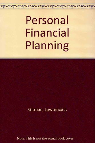 9780030084898: Personal Financial Planning (The Dryden Press series in finance)