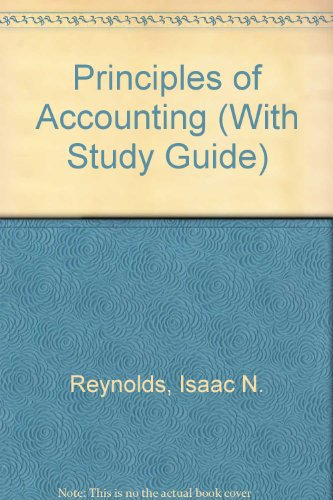 9780030085932: Principles of Accounting (With Study Guide)