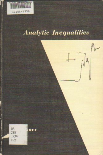 9780030088254: Analytic Inequalities (Athena)