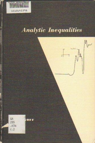 9780030088254: Analytic Inequalities