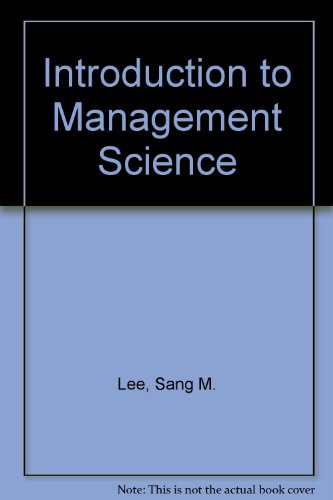 9780030088940: Introduction to Management Science