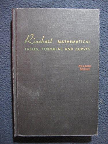 Rinehart Mathematical Tables, Formulas and Curves: Larsen, Harold D.