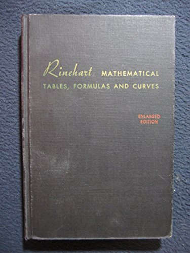 9780030089152: Rinehart Mathematical Tables, Formulas and Curves