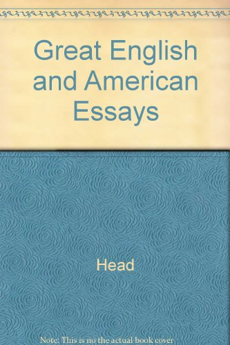 9780030091506: Great English and American Essays