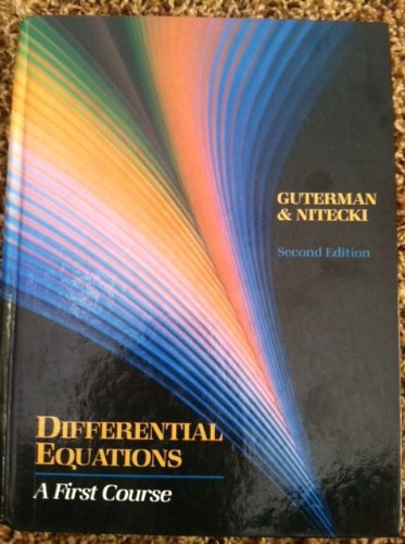 9780030096174: Differential Equations: A First Course