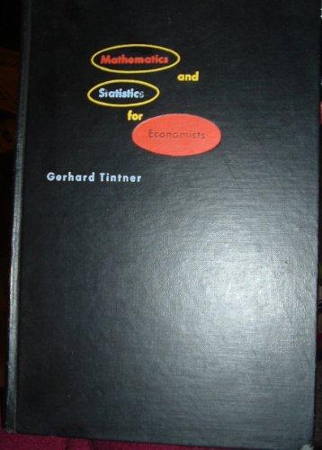 9780030097553: Mathematics and statistics for economists