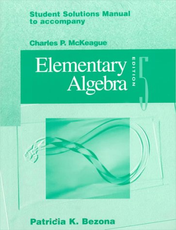 9780030097829: Student Solutions: Manual to Accompany Elementary Algebra