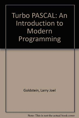 9780030099335: Turbo Pascal: An Introduction to Modern Programming