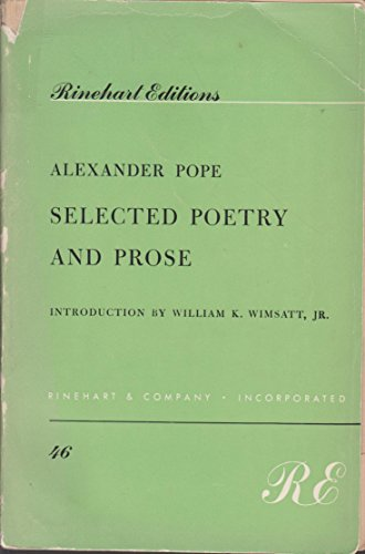 9780030099656: Selected Poetry and Prose (Rinehart Editions,)