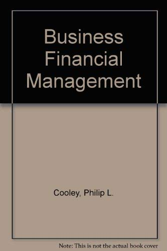 9780030099793: Business Financial Management