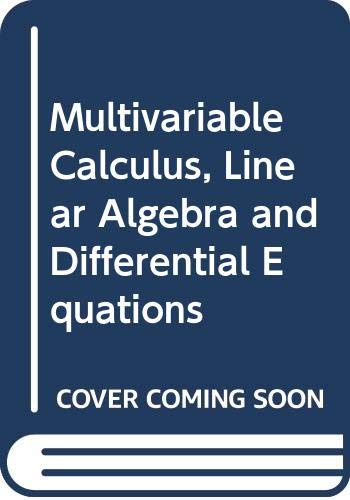 9780030101960: Multivariable Calculus, Linear Algebra and Differential Equations: Student Solution Manual