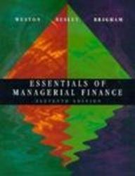 9780030101991: Essentials of Managerial Finance (The Dryden Press Series in Finance)