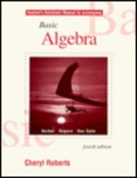 9780030102431: Student Solutions Manual-Basic Algebra4E