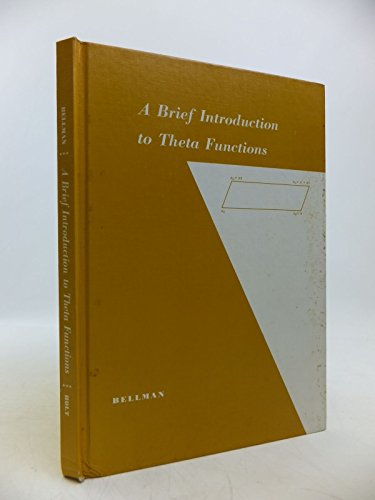 9780030103605: A Brief Introduction to Theta Functions