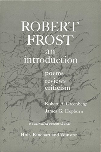 9780030104602: Robert Frost: An Introduction