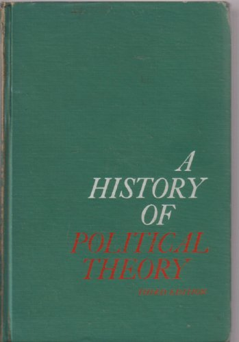 9780030107405: A history of political theory
