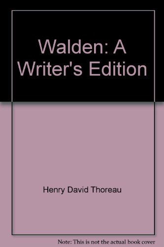 9780030108457: Walden: A Writer's Edition