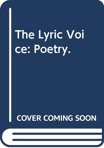 The Lyric Voice: Poetry: Albert R. Kitzhaber,