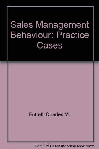 9780030109638: Sales Management Behaviour: Practice Cases