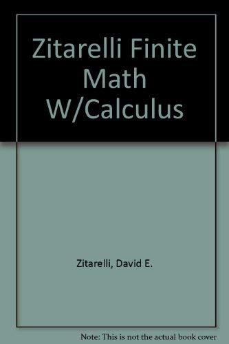 9780030112744: Finite Mathematics With Calculus