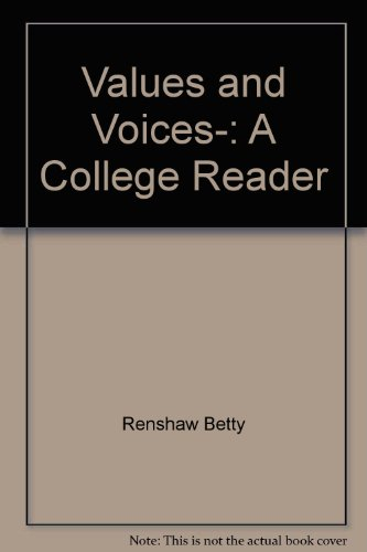 9780030114465: Values and voices,: A college reader
