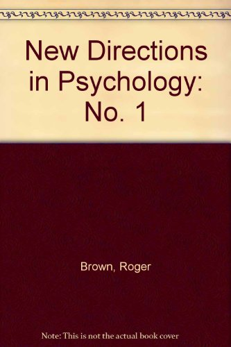 9780030114908: New Directions in Psychology