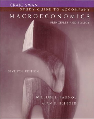 9780030117244: Study Guide to Accompany Macroeconomics: Principles and Policy