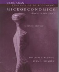 9780030117343: Study Guide to Accompany Microeconomics: Principles and Policy