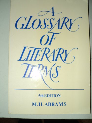 9780030119538: A Glossary of Literary Terms