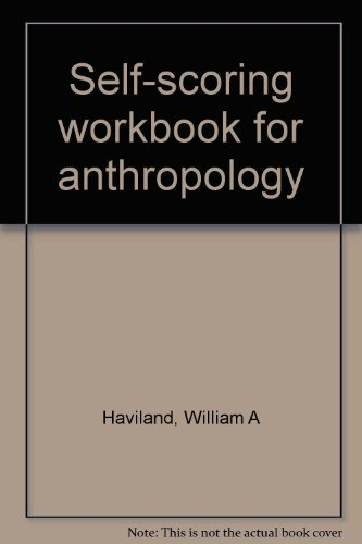 9780030120664: Self-scoring workbook for anthropology