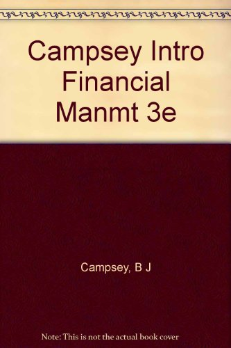 9780030123535: Campsey Intro Financial Manmt 3e