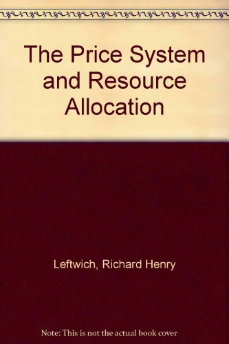 9780030125331: Price System and Resource Allocation (The Dryden Press series in economics)