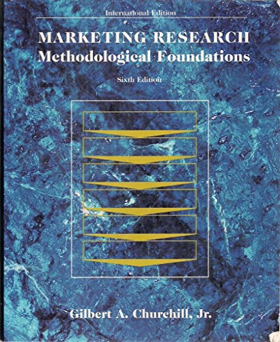 9780030125584: Marketing Research: Methodological Foundations