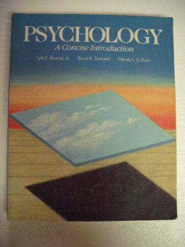 9780030128547: Psychology: A Concise Introduction