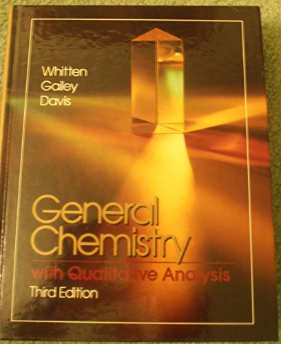9780030128646: Whitten Et Al General Chem W/Qual Anal 3e (Saunders golden sunburst series)
