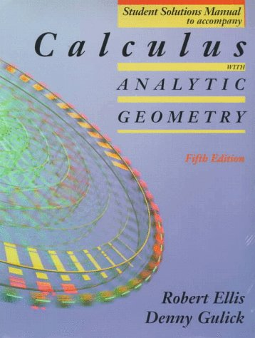9780030129698: Calculus With Analytic Geometry