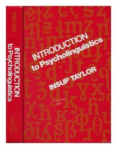9780030129810: Introduction to Psycholinguistics