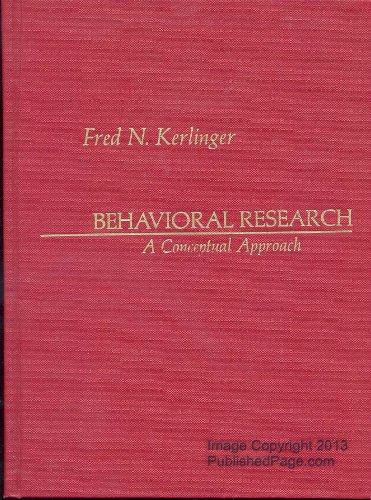 9780030133312: Behavioral Research: A Conceptual Approach