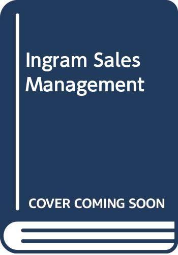 9780030134579: Ingram Sales Management (The Dryden Press series in marketing)