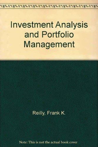 9780030135767: Investment Analysis and Portfolio Management