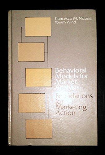 9780030136160: Behavioural Models for Market Analysis