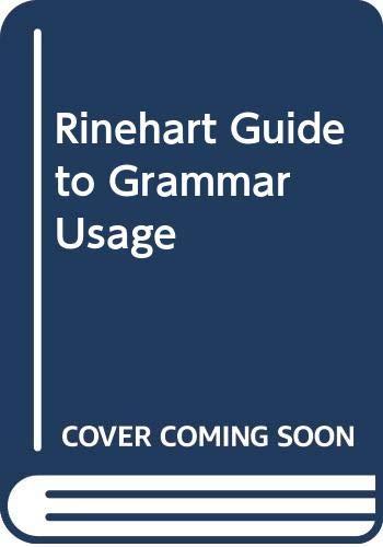 9780030136191: Rinehart Guide to Grammar Usage