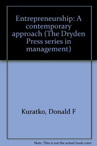 9780030136399: Entrepreneurship: A contemporary approach (The Dryden Press series in management)
