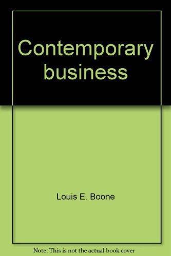 9780030136511: Contemporary business