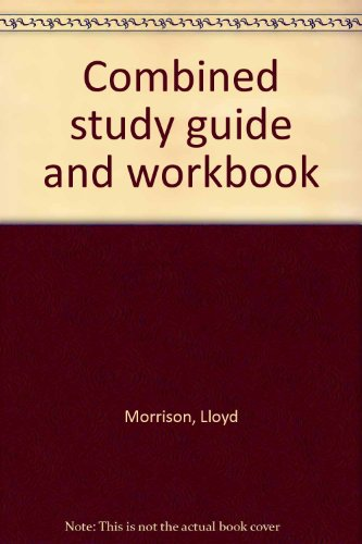 9780030137419: Combined study guide and workbook