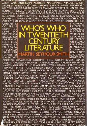 9780030139260: Who's Who in Twentieth-Century Literature