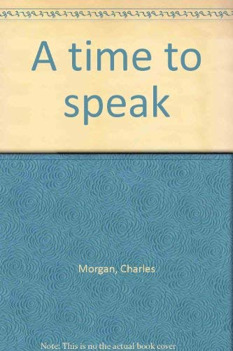 9780030139567: A time to speak