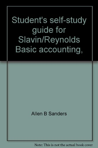 9780030141263: Student's self-study guide for Slavin/Reynolds Basic accounting, [third edition]