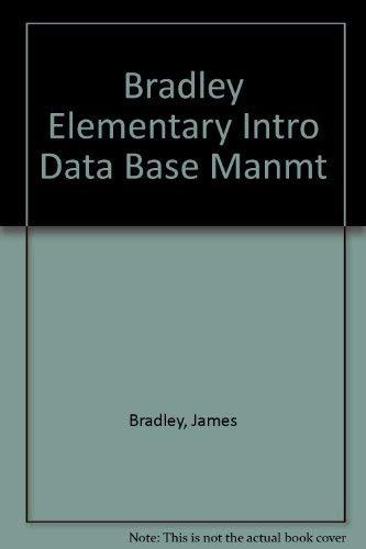 9780030141447: Elementary Introduction to Data Base Management
