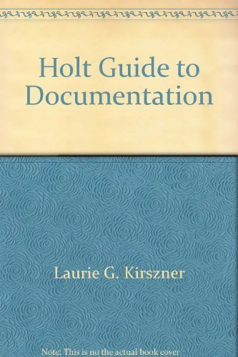 9780030142871: Holt Guide to Documentation